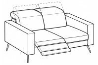 Sofas Christopher 2-er sofa with 1 relax