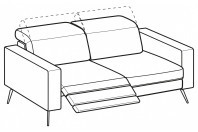 Sofas Christopher 3-er sofa with 1 relax