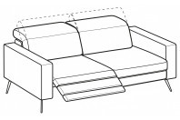 Sofas Christopher 3-er maxi sofa with 2 relax