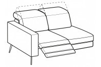 Sofas Christopher 2-er lateral element with 1 relax
