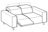 Sofas Sebastian 2-er sofa with 1 relax