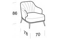 Complements Aaron AARON armchair