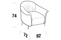 Complements Caroline CAROLINE armchair