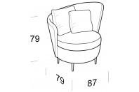 Complements Privè PRIVE' armchair