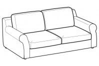 Sofas Abby 2-er maxi sofa