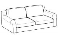 Sofas Abby 3-er sofa