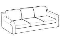 Sofas Abby 3-er maxi sofa
