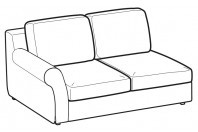Sofas Abby 2-er lateral element