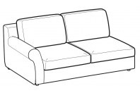 Sofas Abby 2-er maxi lateral element