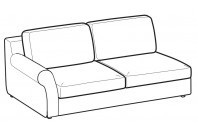 Sofas Abby 3-er lateral element