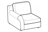 Sofas Abby 1-er lateral element