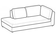 Sofas Abby Angular side element