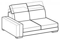 Sofas Astor 2-er lateral element