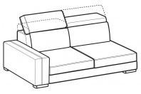 Sofas Astor 3-er lateral element