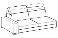 Sofas Astor 3-er maxi lateral element
