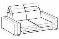 Sofas Astor 2-er sofa with sliding seats