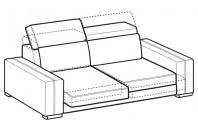 Sofas Astor 3-er sofa with sliding seats