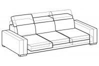 Sofas Astor 4-er sofa with sliding seats