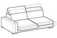 Sofas Astor 3-er maxi lateral element with sliding seats