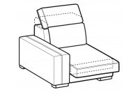 Sofas Astor 1-er lateral element with sliding seat