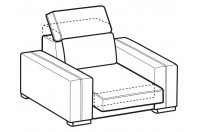 Sofas Astor Armchair with sliding seat