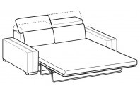 Sofas Astor 3-er maxi bed with electro-welded base