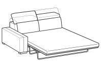 Sofas Astor 3-er maxi lateral element with electro-welded base