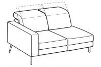 Sofas Christopher 2-er lateral element