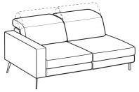 Sofas Christopher 3-er lateral element