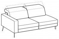 Sofas Christopher 3-er maxi lateral element