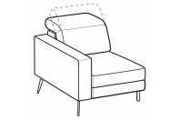 Sofas Christopher 1-er small lateral element