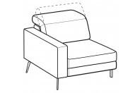 Sofas Christopher 1-er lateral element