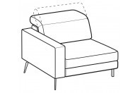 Sofas Christopher 1-er maxi lateral element