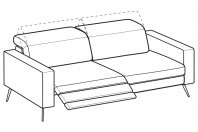 Sofas Christopher 3-er maxi sofa with 1 relax