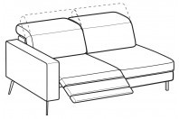 Sofas Christopher 3-er lateral element with 1 relax