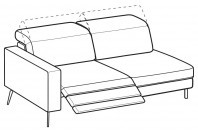 Sofas Christopher 3-er maxi lateral element with 1 relax