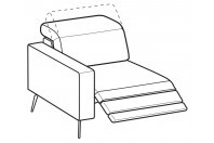 Sofas Christopher 1-er lateral element with relax
