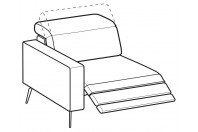 Sofas Christopher 1-er maxi lateral element with relax