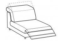 Sofas Christopher 1-er central element with relax
