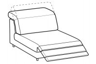 Sofas Christopher 1-er maxi central element with relax