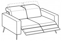 Sofas Christopher 2-er sofa with 2 relax