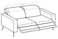 Sofas Christopher 3-er sofa with 2 relax