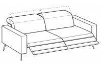 Sofas Christopher 4-er sofa with 2 relax