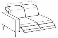 Sofas Christopher 2-er lateral element with 2 relax