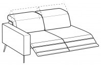 Sofas Christopher 3-er lateral element with 2 relax