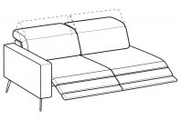 Sofas Christopher 3-er maxi lateral element with 2 relax