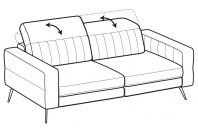 Sofas Egon 3-er maxi sofa