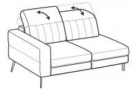 Sofas Egon 2-er lateral element
