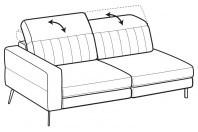 Sofas Egon 3-er maxi lateral element