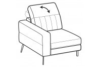 Sofas Egon 1-er small lateral element